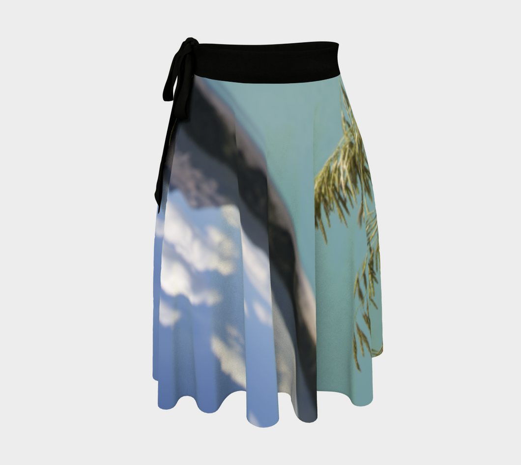 Abraham Lake Alberta Mountain view ealanta Wrap Skirt Wrap Skirt- ealanta Art Wear