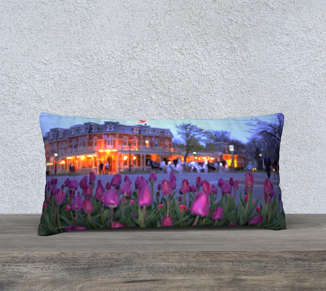Purple Tulips Niagara on the Lake evening walk ealanta Cushion Cover 24x12 24