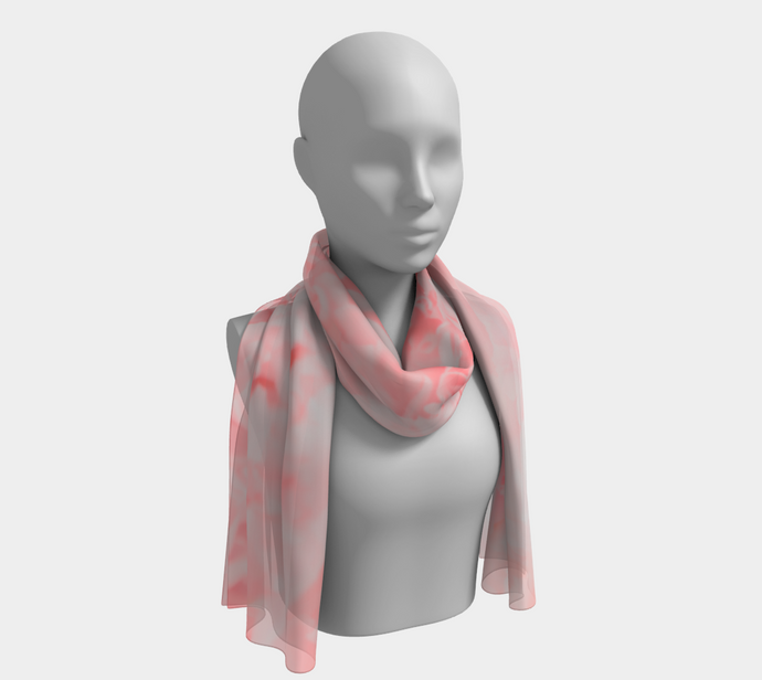 Peony Dream ealanta long scarf Long Scarf- ealanta Art Wear