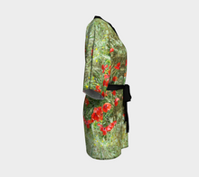 Tuscan Poppies Robe ealanta Kimono Robe- ealanta Art Wear