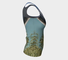 Abraham Lake Alberta Mountain view ealanta fitted  Tank Top Fitted Tank Top (Long)- ealanta Art Wear