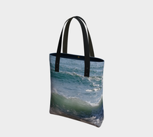 Ocean Splash Tote Deluxe Lined  ealanta Tote Bag- ealanta Art Wear