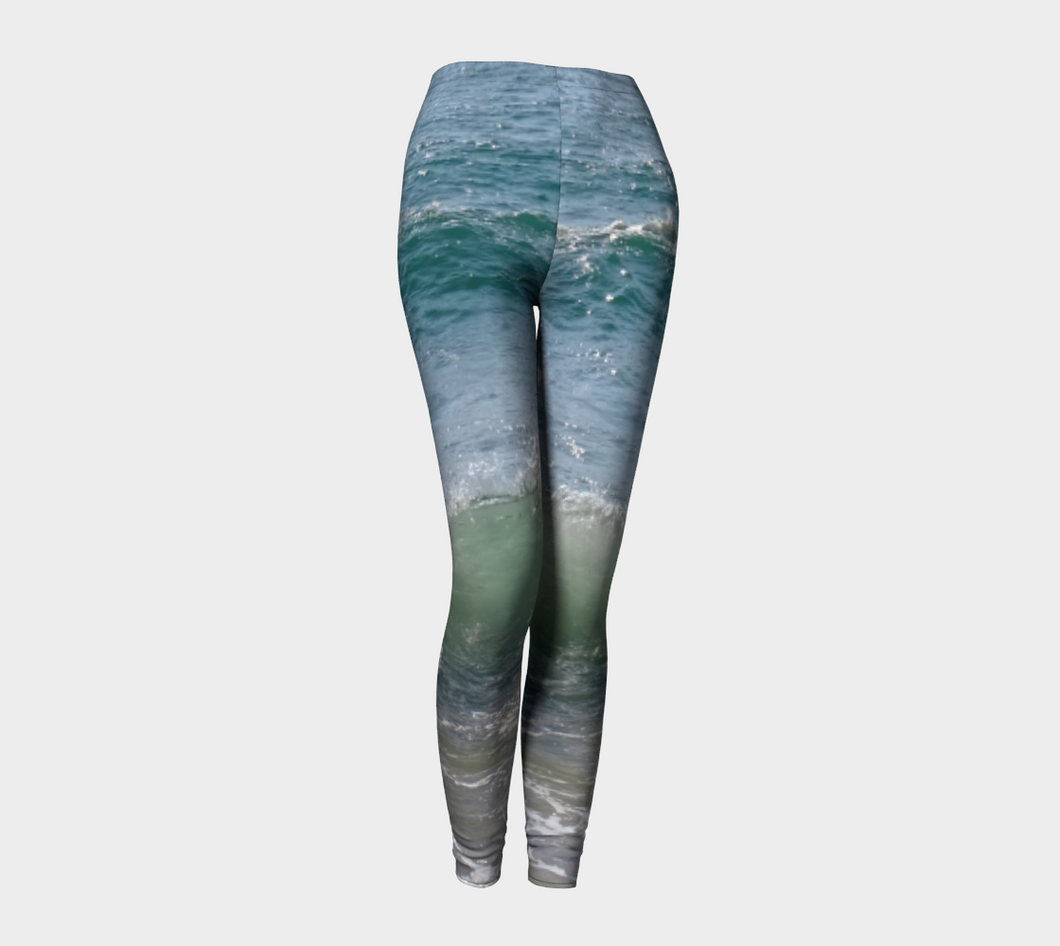 Ocean Splash Leggings ealanta Leggings- ealanta Art Wear