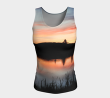 Beaumont Blues Tank Top Fitted (long) ealanta Fitted Tank Top (Long)- ealanta Art Wear