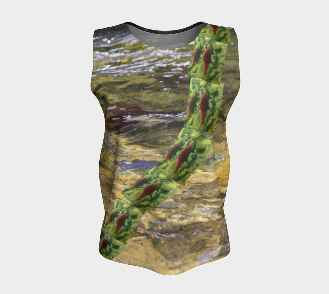 Salmon Run BC 2018 Loose Tank Top ealanta (24-25