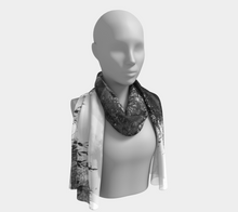Olive Tree sunburst bw ealanta Long Scarf- ealanta Art Wear