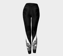 Paris Black Roses &  Eiffel Tower ealanta leggings Leggings- ealanta Art Wear