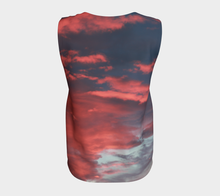 Pink Prairie Skies ealanta loose Tank Top Loose Tank Top (Long)- ealanta Art Wear