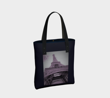 Eiffel Tower Purple Haze deluxe Tote ealanta