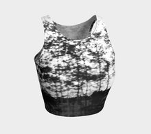 Trees in Motion Alberta B+W ealanta Top Athletic Crop Top- ealanta Art Wear