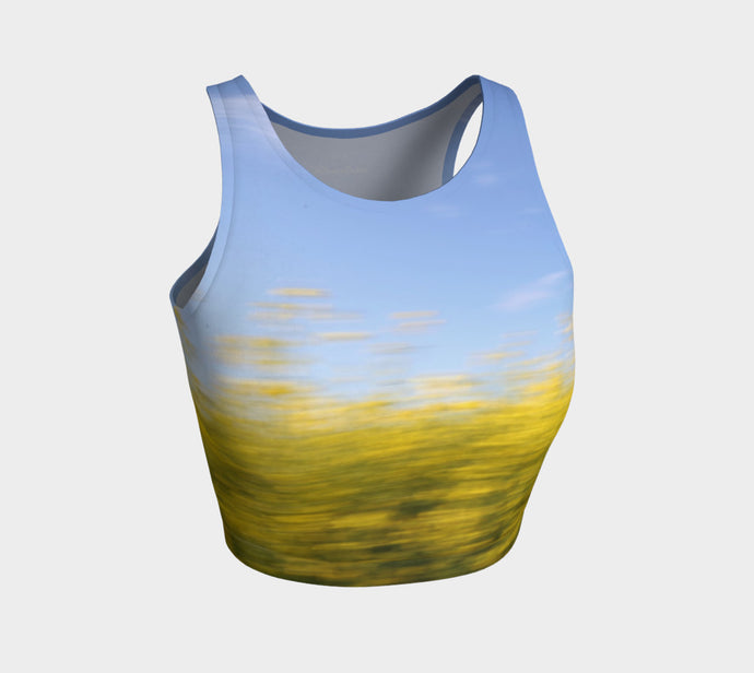 Canola Motion Alberta ealanta Top Athletic Crop Top- ealanta Art Wear