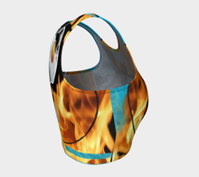Yin Yang  Fire + Ice ealanta Art Wear Athletic Crop Top- ealanta Art Wear