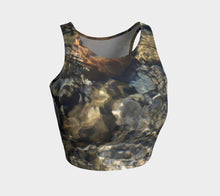Crystal Clear Athletic Crop Top- ealanta Art Wear