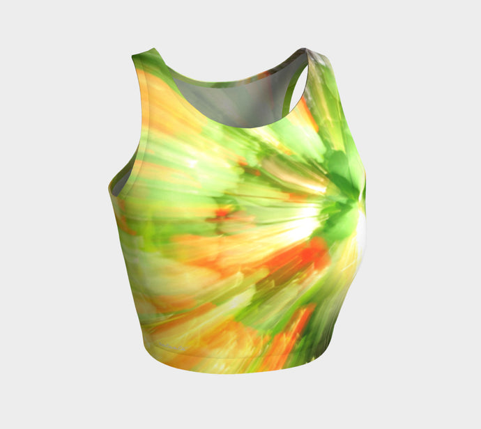 Citrus Burst ealanta Athletic Crop Top- ealanta Art Wear