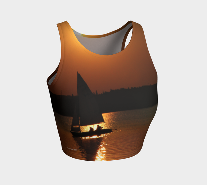 Time to Reflect ealanta Athletic Crop Top- ealanta Art Wear