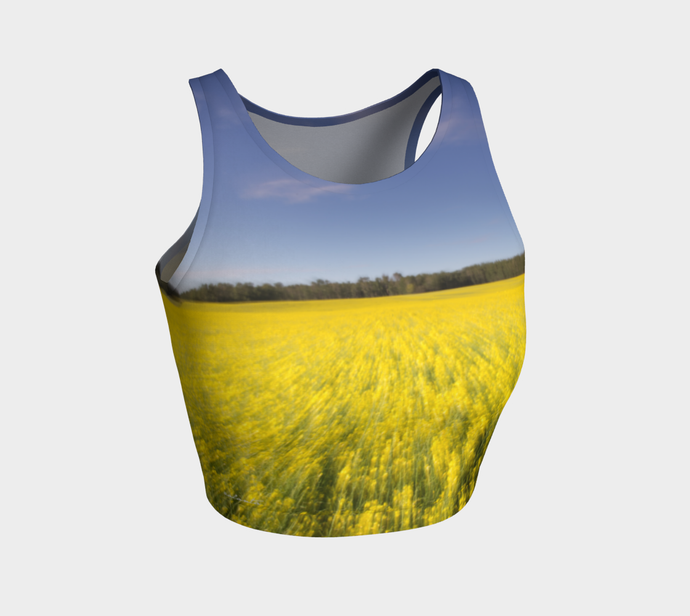 Canola zoom crop top ealanta Athletic Crop Top- ealanta Art Wear