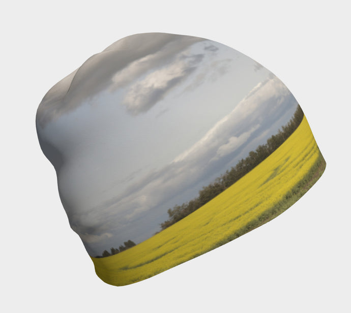 Clouds over Canola ealanta beanie hat Beanie- ealanta Art Wear