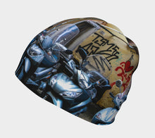Italian Graffiti Motor Bike Parking Florence Beanie- ealanta Art Wear