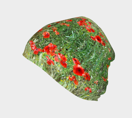 Tuscan Poppies ealanta Beanie/Touque/Hat- ealanta Art Wear