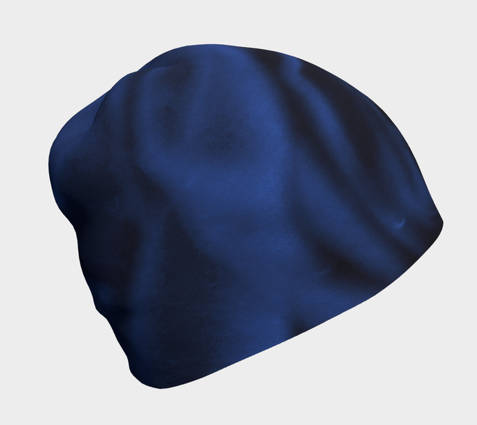 Blue Rose Beanie Hat ealanta Beanie- ealanta Art Wear