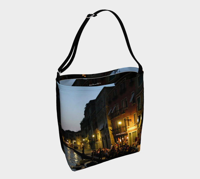Venice Night Tote Bag ealanta Day Tote- ealanta Art Wear