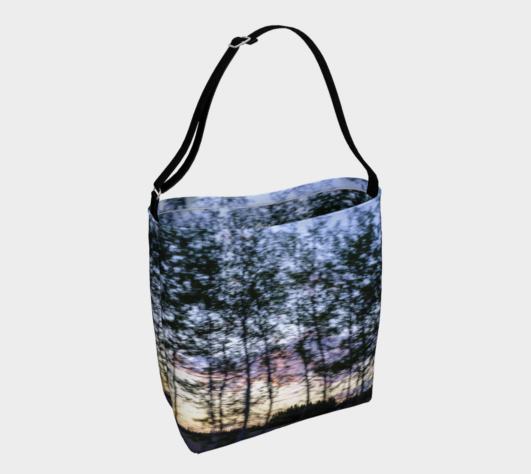 Alberta Tree Motion Tote Bag ealanta Day Tote- ealanta Art Wear