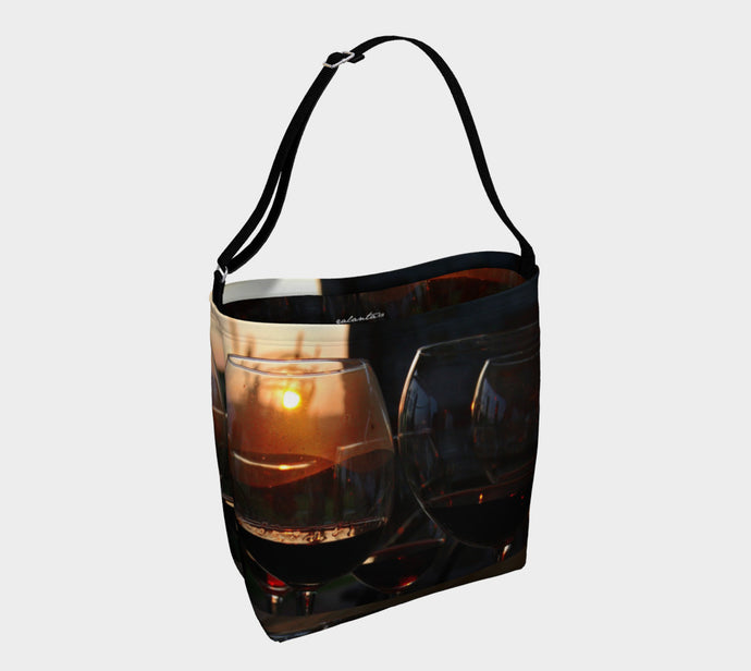 Toast to the Tuscan Sun Tote Bag ealanta Day Tote- ealanta Art Wear