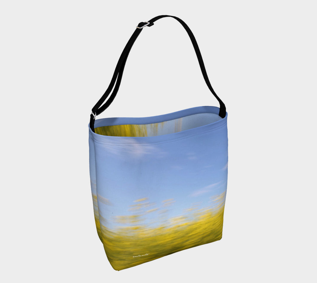 Canola Motion Alberta ealanta.ca Day Tote- ealanta Art Wear