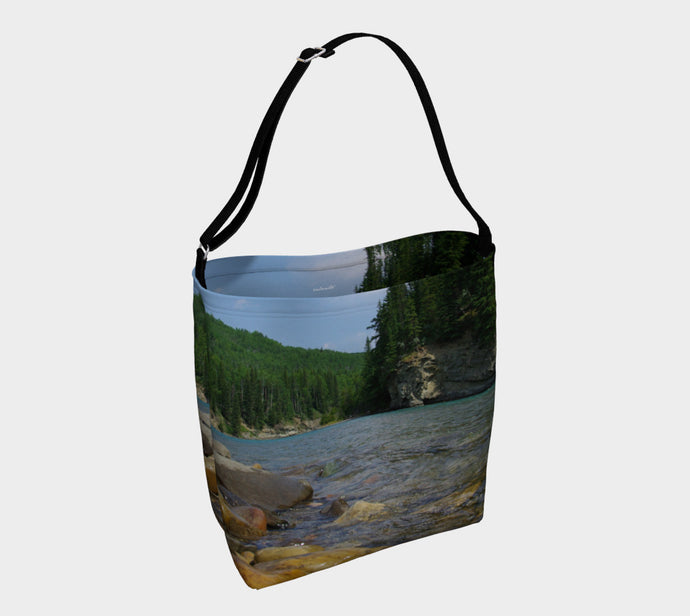 North Saskatchewan River Alberta ealanta.ca Day Tote- ealanta Art Wear