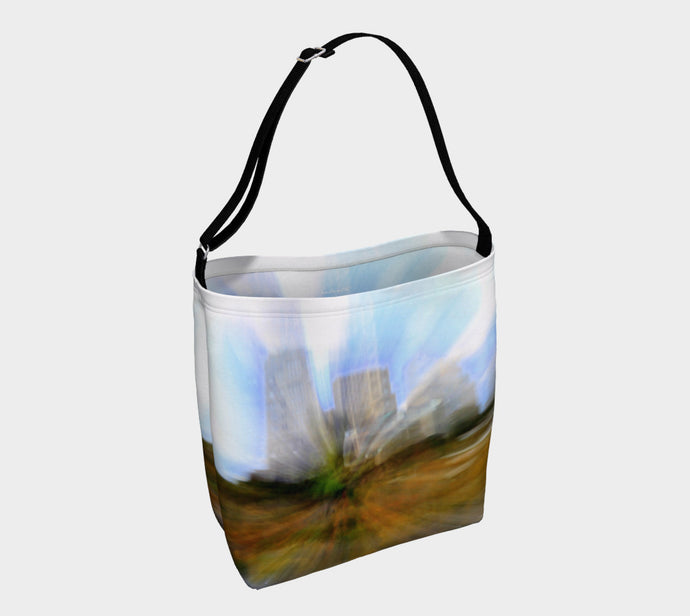 Edmonton in Motion Tote Bag ealanta.ca Day Tote- ealanta Art Wear