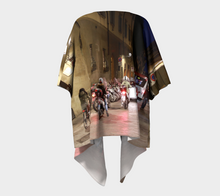 Streets of Florence at Night Draped Kimono- ealanta Art Wear