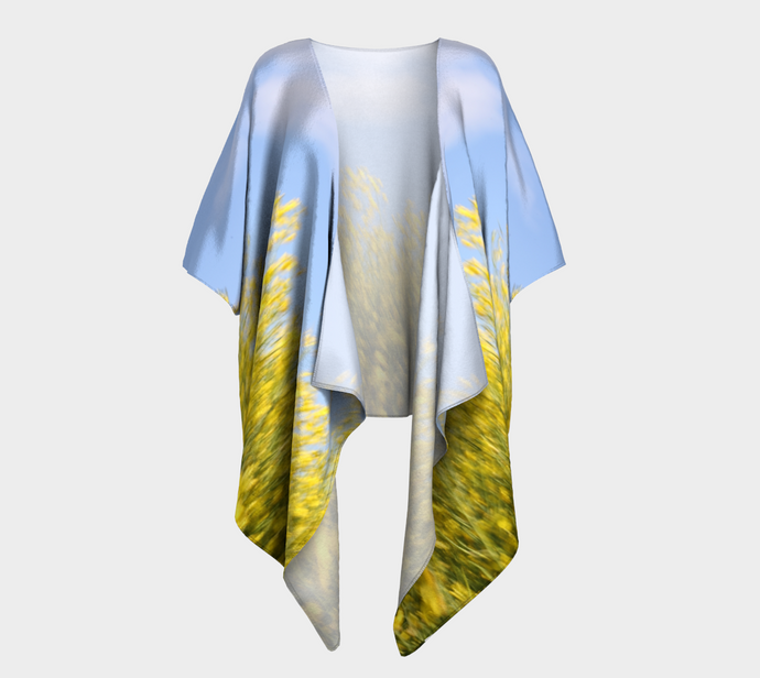 Canola Dream Alberta ealanta Art Wear Draped Kimono- ealanta Art Wear
