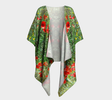 Tuscan Poppies ealanta Draped Kimono- ealanta Art Wear
