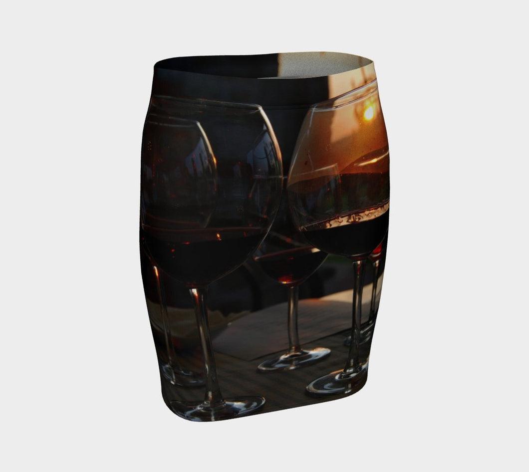 Taste of the Tuscan Sun ealanta skirt Fitted Skirt- ealanta Art Wear