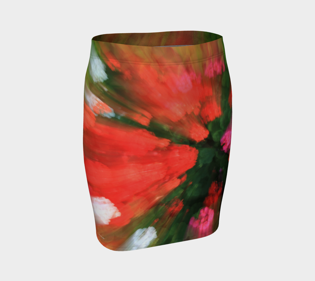 Floral Splash Edmonton Muttart ealanta skirt Fitted Skirt- ealanta Art Wear