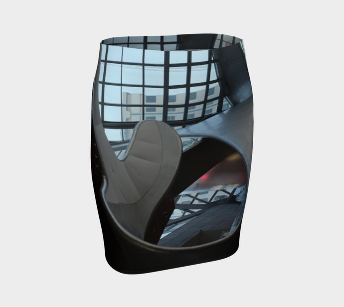 AGA Through the Roof fitted skirt Fitted Skirt- ealanta Art Wear