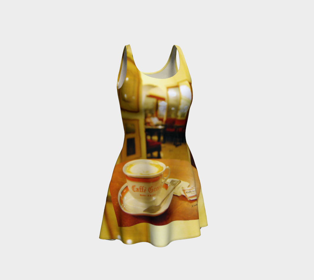 Caffe Greco Rome Flare Dress- ealanta Art Wear