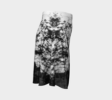 Tree Motion Alberta Black + White Flared Skirt Flare Skirt- ealanta Art Wear