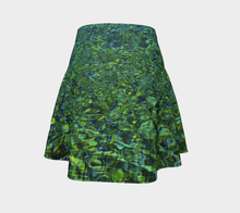 Tuscan Pool reflections Flared Skirt Flare Skirt- ealanta Art Wear