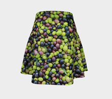 Olives Organic Harvest Tuscany Flared Skirt Flare Skirt- ealanta Art Wear