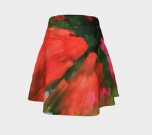 Floral Splash flared skirt Flare Skirt- ealanta Art Wear