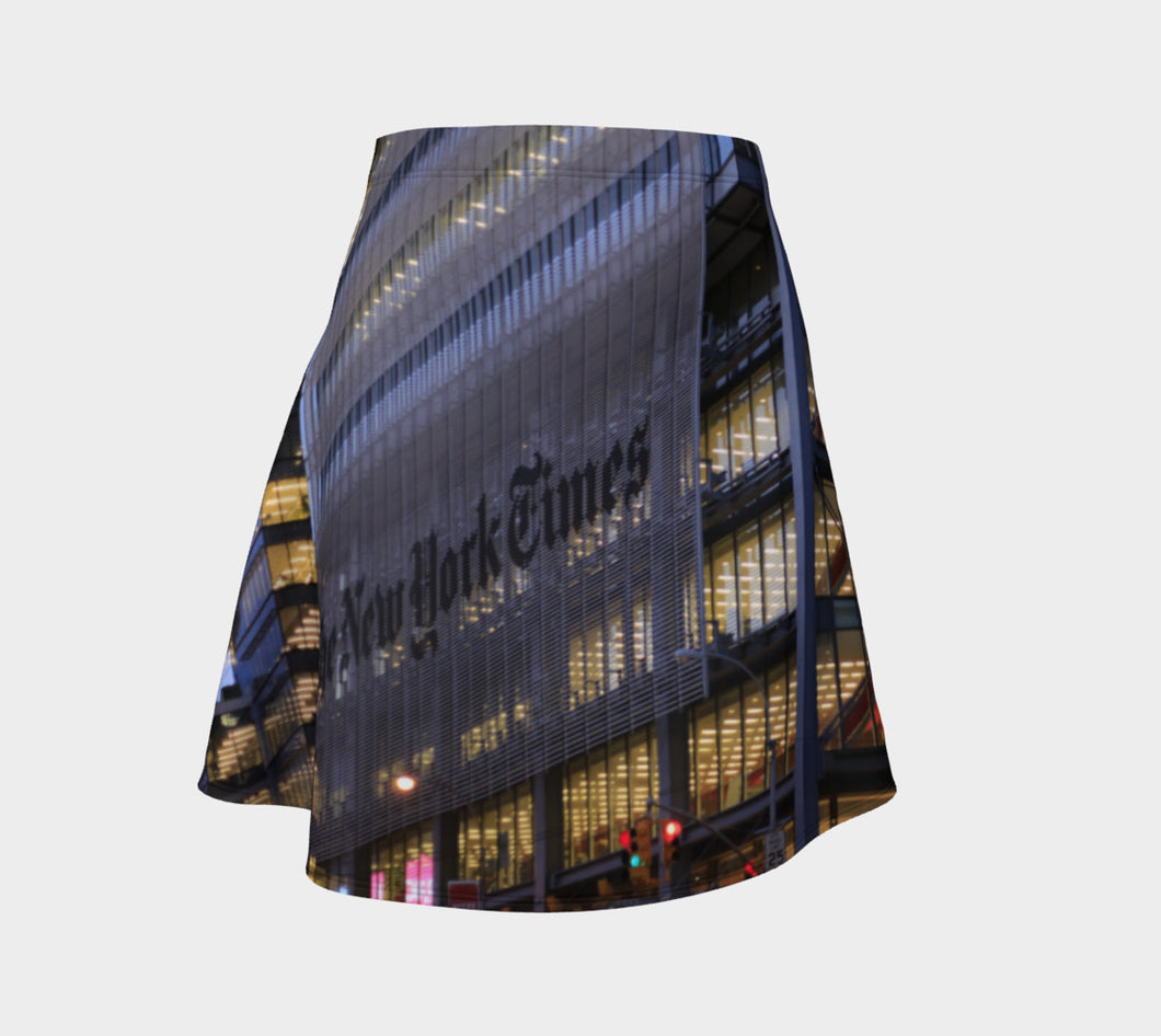 New York Times ealanta Skirt flared Flare Skirt- ealanta Art Wear