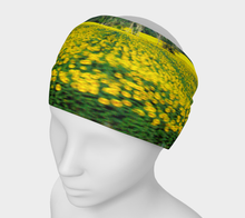 Sunflower Field of Motion Italy Headband Headband- ealanta Art Wear