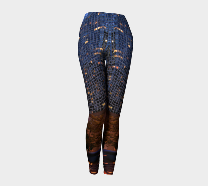 Chicago High-rise Night Leggings Leggings- ealanta Art Wear