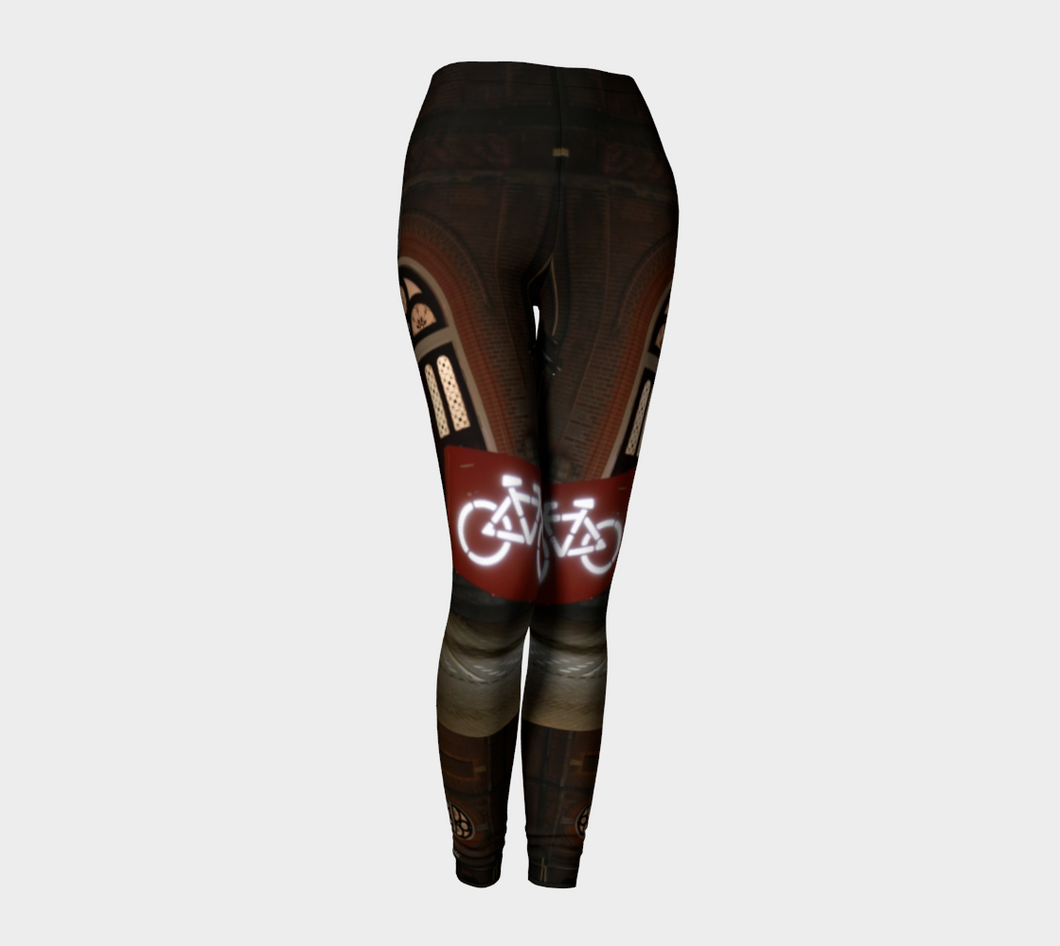 Amsterdam Bike Parking Legs ealantaArtWear Leggings- ealanta Art Wear