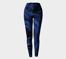 Roses in Cool Blue  Leggings ealanta Leggings- ealanta Art Wear