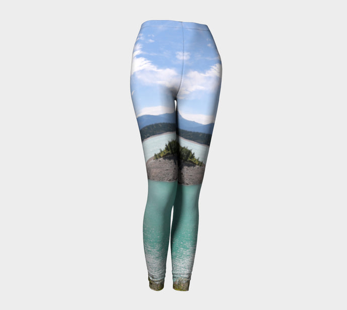 Abraham Lake Alberta Leggings ealanta Leggings- ealanta Art Wear