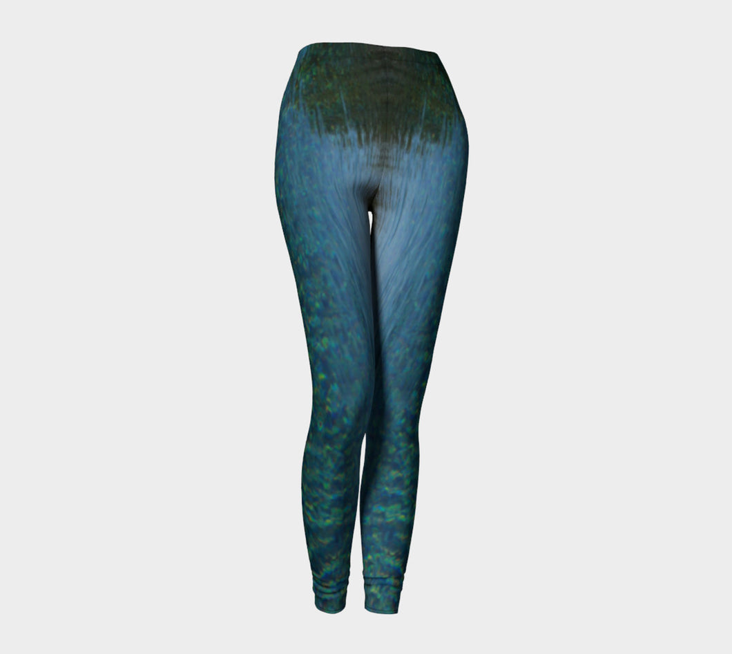 Tuscan Pool View  Leggings ealanta Leggings- ealanta Art Wear