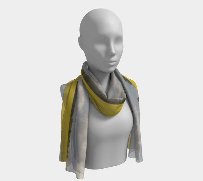 Clouds over Canola ealanta long scarf Long Scarf- ealanta Art Wear