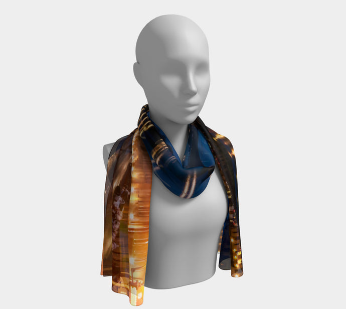 Reflections of Florence Long Scarf- ealanta Art Wear